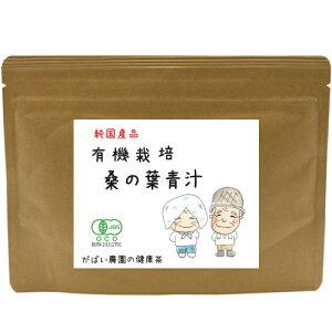 有機栽培 桑の葉青汁 100g(くわ青汁 桑の葉青汁 青汁 桑の葉粉末 国産 送料無料 無農薬 桑の葉パウダー 健康食品)
