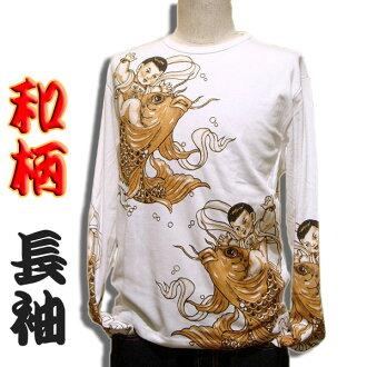 584320bf9 Robber Gabriela: Japanese pattern tattoo long T-shirt (long sleeve ...