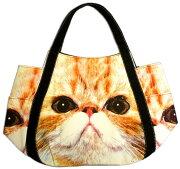【猫アップ】トートバッグ、エコバッグサイドポケット付【ネコねこトートバッグかばん通販】【動物祭り】