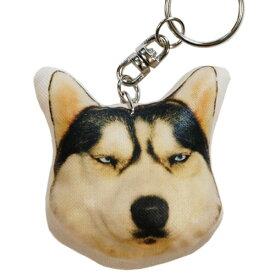 犬 キーホルダー 77 シベリアン ハスキー 犬グッズ 犬雑貨 ドッグ いぬ イヌ 犬柄 雑貨 グッズ アニマル 動物 動物柄 布製 プレゼント 通販