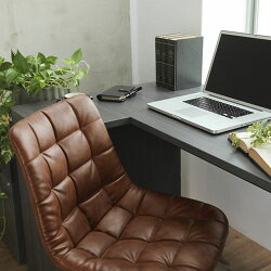 Laborioパソコンチェアーキャスター付き昇降機能付き昇降式360度回転アームレスチェア在宅ワークデスクチェアpcチェアワークチェアパソコンチェアおしゃれデスクチェアーブラウン/キャメル/ブラックCHR100208