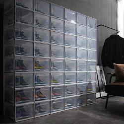 収納ボックス・フタ付き・靴収納ケース・軽量・スタッキング・約・奥行36・高さ18.7・靴・ハイカット対応・スニーカー・革靴・魅せる・収納・半透明・おしゃれ