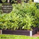 【入荷】ガーデンボックス 1200 ブラック Kronus 社 品番:KGB1208bk Kronus Garden Box 1200 Black クロヌス 木製 パレット プランター ガーデンベッド レイズドベッド レイズドガーデン 立ち上げ花壇 家庭菜園 野菜 ハーブ ガーデニング 組立式