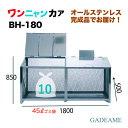 オールステンレス製ゴミ収納ボックス ワンニャンカア BH-180 1800×500×850mm(NSSC FW2使用)【ステンレス光】ゴミステーション 大…