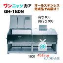 オールステンレス製ゴミ収納ボックス ワンニャンカア 大型タイプ GH-180N 1800×900×850mm(NSSC FW2使用)【ステンレス光】ゴミステ…