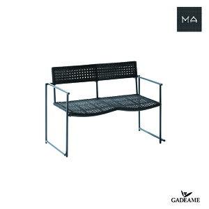 【新製品】ガーデンファニチャー MA-Arm Bench 〈MA アームベンチ〉 PATIO PETITE モダンデザイン シンプルデザイン 屋外ファニチャー 屋外家具 アウトドアファニチャー リゾート 送料無