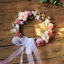 【即納】全3色 花冠 ヘッドドレス ウエディング 造花 花かんむり 綺麗花冠★ドレス カチューシャ /造花 ブライダル …