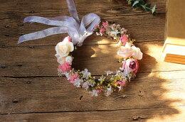 全3色花冠ヘッドドレスウエディング造花花かんむり綺麗花冠★ドレスカチューシャ/造花ブライダル/ナチュラル/花輪/結婚式/海外旅行/前撮り