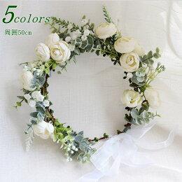 花冠(花かんむり)ウエディングヘッドドレス淡いなでしこ色が可愛い髪飾り(ヘアーコサージュ)椿ツバキ結婚式結婚祝いに花嫁(新婦)に誕生日のプレゼントにもウェディングドレスに造花(シルクフラワー)のヘアードカチューシャ成人式前撮りフェスにも