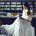 ドレス パーティードレス  ウェディングドレス ロングドレス 花嫁ウェディングドレス 結婚式 謝恩会 二次会ドレス…