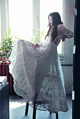 ウェディングドレスパーティードレスロングドレスワンピース結婚式ドレスAラインドレスエンパイアドレスレースウェディングドレス二次会花嫁ロングドレス演奏会イブニングドレスワンピパーティードレス