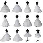 大人用ウエディングドレス用ホワイトパニエ/ブラック/プリンセスライン/12タイプ選択可/Aライン/ハードチュール/ウエディングドレス・カラードレス・ロングドレス・スカート・ボリューム・結婚式・二次会・演奏会一部即納