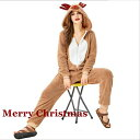 クリスマス トナカイ コスプレ 衣装 仮装 トナカイ 着ぐるみ フード付き トナカイコスチューム アニマル 動物 レディース パジャマ 部屋着 大人用 かわいい クリスマス ギフト プレゼント 仮装