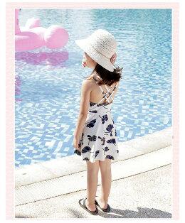 水着女の子キッズジュニア上下セット子供水着女の子ラッシュガードトップス長袖キッズ水着スクール水着水遊びショートパンツスイムウェア日焼け防止