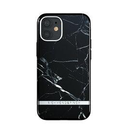 【ポイント10倍 6/24 06:00〜6/26 01:59】Richmond & Finch iPhone12mini Freedom Case - Black Marble ブラック