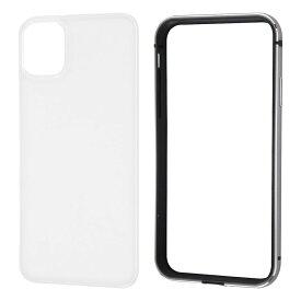 【10/18-10/20限定ポイント10倍】ray-out iPhone11 アルミバンパー 背面パネル クリア ブラック
