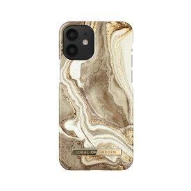 iDEAL OF SWEDEN ケース カバー iPhone 12 mini Fashion Case -Golden Sand Marble ゴールド サンド