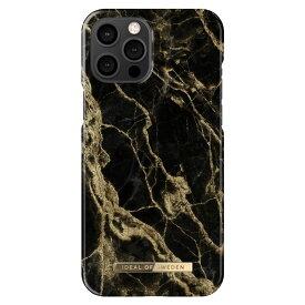 【マラソン限定ポイント20倍】iDEAL OF SWEDEN ケース カバー iPhone 12 Pro Max Fashion Case -Golden Smoke Marble ブラック ゴールド 黒
