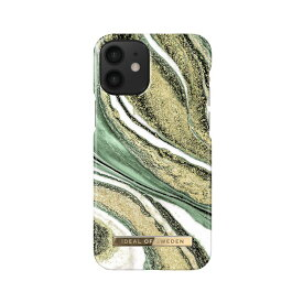 iDEAL OF SWEDEN ケース カバー iPhone 12 mini Fashion Case -Cosmic Green Swirl グリーン ゴールド 緑