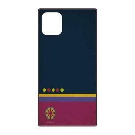 鬼滅の刃 グッズ iPhone 12 mini スクエアガラス ケース 宇髄 天元 うずい てんげん 紺 ネイビー ネコポス便配送