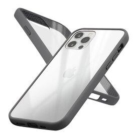 Campino カンピーノ iPhone12Pro iPhone12 アイフォン ケース カバー スマホケース Anti-shock Slim Case ブラック 黒 ネコポス便配送 クリア 透明