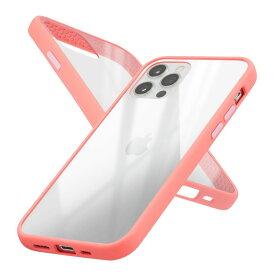 Campino カンピーノ iPhone12Pro iPhone12 アイフォン ケース カバー スマホケース Anti-shock Slim Case クリア ピンク ネコポス便配送 透明