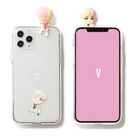 iPhone SE(第2世代) フィギュアクリアゼリーケースふきだし 吹き出し V テテ BTS BTS 公式 グッズ TinyTAN
