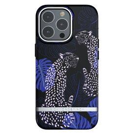 Richmond&Finch リッチモンドアンドフィンチ スマホケース ハード ケース iPhone13Pro ブラック ブルー 2021 Blue Cheetah