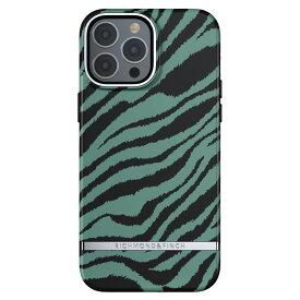 【iPhone新機種対応】Richmond&Finch リッチモンドアンドフィンチ スマホケース ハード ケース iPhone13ProMax エメラルドグリーン ゼブラ 2021 Emerald Zebra