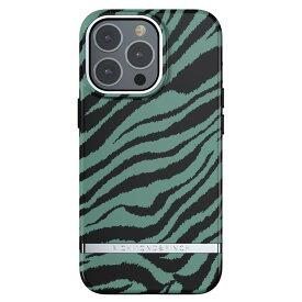 【iPhone新機種対応】Richmond&Finch リッチモンドアンドフィンチ スマホケース ハード ケース iPhone13Pro エメラルドグリーン ゼブラ 2021 Emerald Zebra