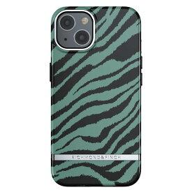 【iPhone新機種対応】Richmond&Finch リッチモンドアンドフィンチ スマホケース ハード ケース iPhone13 エメラルドグリーン ゼブラ 2021 Emerald Zebra