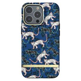 Richmond&Finch リッチモンドアンドフィンチ スマホケース ハード ケース iPhone13Pro ブルー レオパード 2021 Blue Leopard
