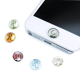 【ホームボタンシール】正規スワロフスキーホームボタン/選べるカラー/イニシャル/スマートフォン/SWAROVSKI/iPhon6/iPhon5/アイフォン