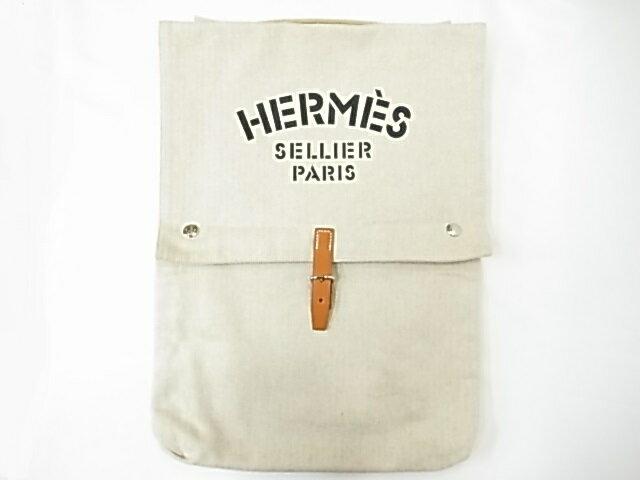 【HERMES】エルメス バギーバゲッジ トワルシェブロン コットンキャンバス ハンドバッグ クラッチバッグ【中古】