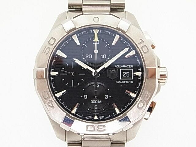 【TAG Heuer】タグ・ホイヤー CAY2110.BA0925 アクアレーサー キャリバー16 クロノグラフ 自動巻 ブラック文字盤 腕時計 【送料無料】【中古】