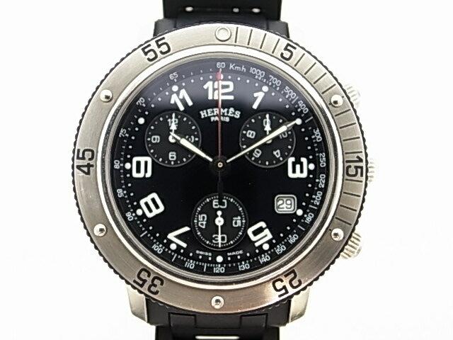 【HERMES】エルメス クリッパー クロノグラフ CL2.915 クォーツ 腕時計 【送料無料】【中古】