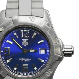 【TAG HEUER】タグホイヤー WN1312 プロフェッショナル200 青文字盤 クオーツ レディース腕時計【送料無料】【中古】