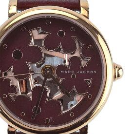 【MARC JACOBS】マークジェイコブス MJ1629 クラシック ワインレッド レザーベルト レディース腕時計【送料無料】【中古】[新着]