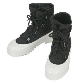 【CHANEL】シャネル G35140 X53113 C0229 レースアップシューズ ブラック/ホワイト ナイロン/ラバー サイズ38(25cm) レディース靴【送料無料】【中古】