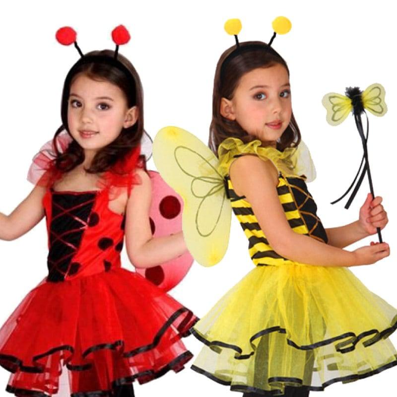 ハロウィン 衣装 子供 コスプレ 子供 女の子 てんとう虫 かわいい キッズ ハロウィン 仮装 コスプレ 子供用 赤 黄色 女の子 キッズ ハロウィン 衣装 発表会 パーティ コスプレ かぼちゃ ウーノスタイル