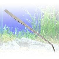 送料無料27cmピンセットカーブ水草用水槽アクア用品