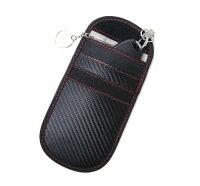 スマートキーケース2個セット電波遮断 ポーチRFID盗難防止リレーアタックブラック男女兼用