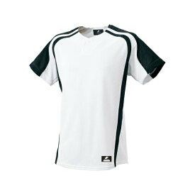 ◆◆ <エスエスケイ> SSK 1ボタンプレゲームシャツ BW0906 (1090:ホワイト×ブラック) エスエスケイ(bw0906-1090-ssk1)