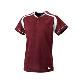 ◆◆ <エスエスケイ> SSK 2ボタンプレゲームシャツ BW2200 (2210:エンジ×ホワイト) エスエスケイ(bw2200-2210-ssk1)