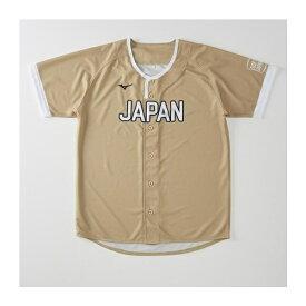 ◆◆送料無料 メール便発送 <ミズノ> MIZUNO SOFT JAPAN レプリカユニフォームシャツ(ホーム) 12JRMQ00 (50:ゴールド)