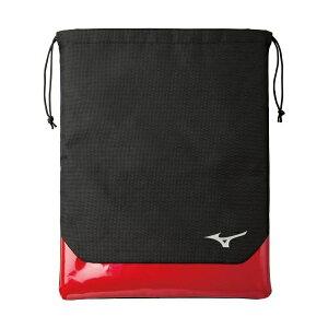 ◆◆送料無料 メール便発送 <ミズノ> MIZUNO 20 シューズ袋 5LJS200200 (0962:ブラック×レッド) ゴルフ