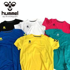 送料無料 メール便発送 即納可☆【hummel】ヒュンメル 19SS ワンポイント ドライTシャツ サッカー フットボール フットサル ジュニア HJY2084