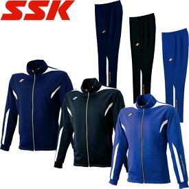 ◆◆ <エスエスケイ> 【SSK】 メンズ フルジップジャケット&パンツ ジャージ上下セット トレーニングウェア 野球 DRF019-DRF019P