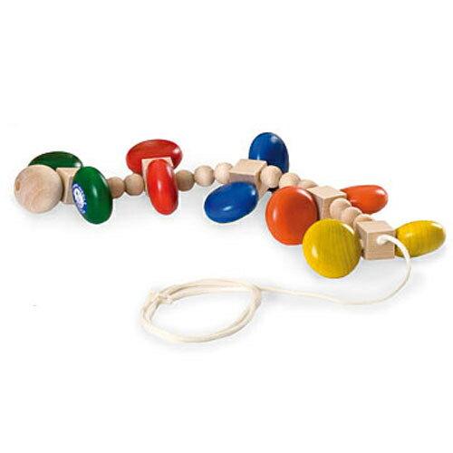 【送料無料】カラームカデ ユシラ/JUSSILA プルトイ 引っ張るおもちゃ 木のおもちゃ 出産祝い 0歳 1歳 2歳 男の子 女の子 誕生日 プレゼント