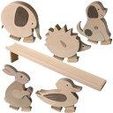 【最大2,000円引きクーポン配布中】とことこ動物 白木 出産祝い 木のおもちゃ 知育玩具 誕生日 プレゼント インテリア…